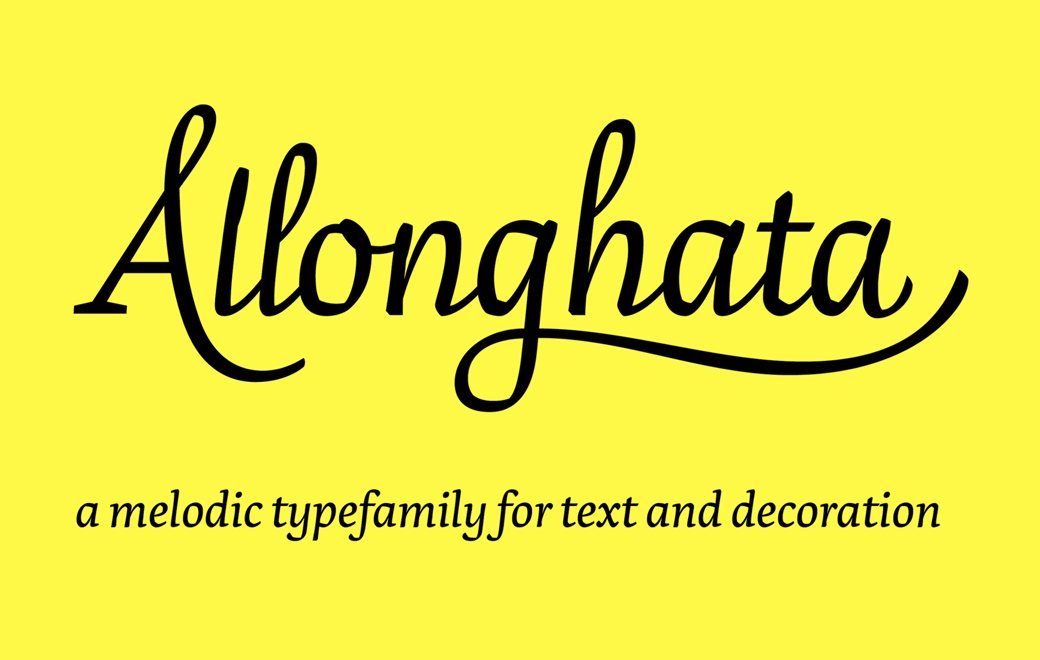 Allonghata Typeface